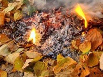 Спалювати  опале листя – не можна!