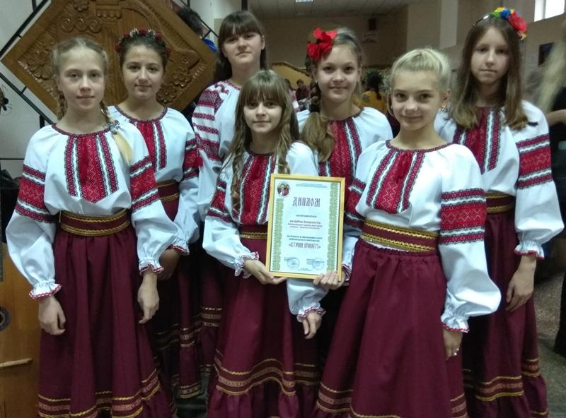 Хмільницькі юні бандуристки отримали диплом обласного свята кобзарського мистецтва