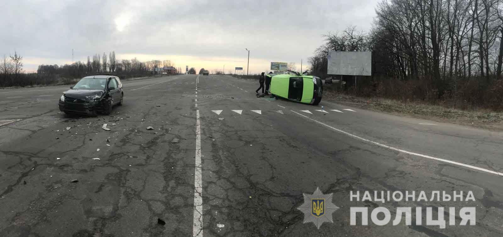 49-річна жінка постраждала у зіткненні двох іномарок у Хмільницькому районі