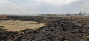 Суху траву знову палили під Хмільником. Та ледь не спалили житлові будинки…