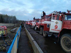 Хмільницькі рятувальники знову вирушили боротись із вогнем у зоні відчуження.