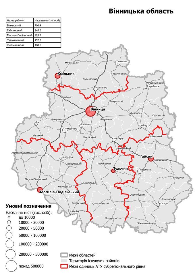 Хмільницькому району – бути! Говоримо про адміністративно-територіальний поділ Вінницької області