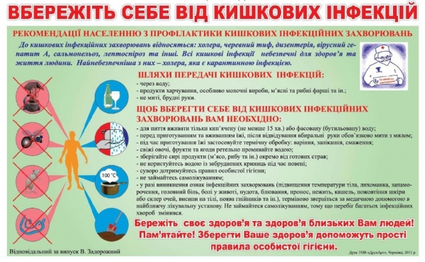 Як хмільничанам не захворіти на гострі кишкові інфекції?