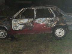 Автомобіль згорів вчора вночі у Широкій Греблі
