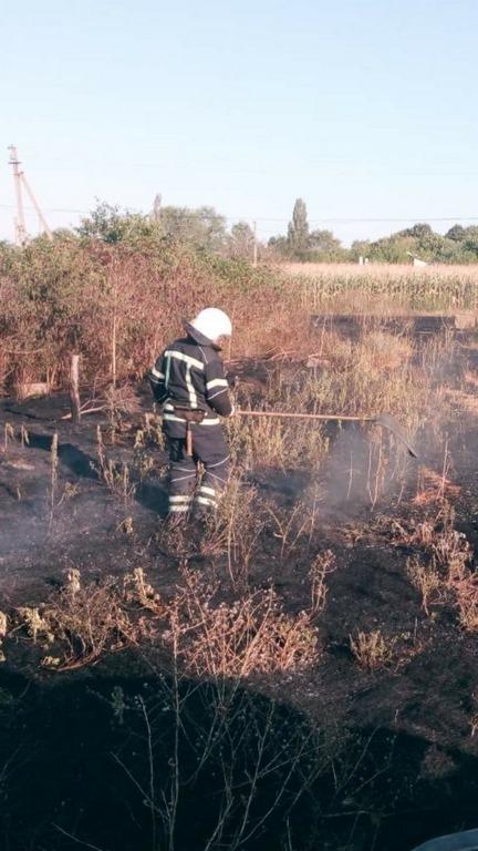 Суха трава горіла сьогодні у Хмільнику…