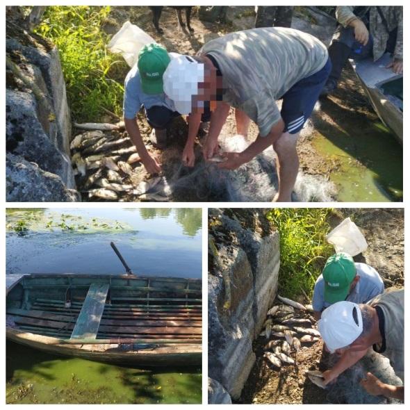 Рибних браконьєрів знову затримали у Хмільницькому районі