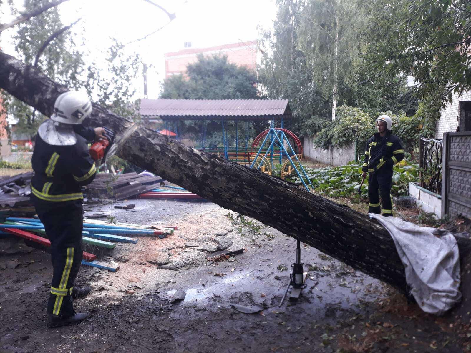 Стихія вчора накрила Хмільницький район… За Улановом дерево впало на автошлях…