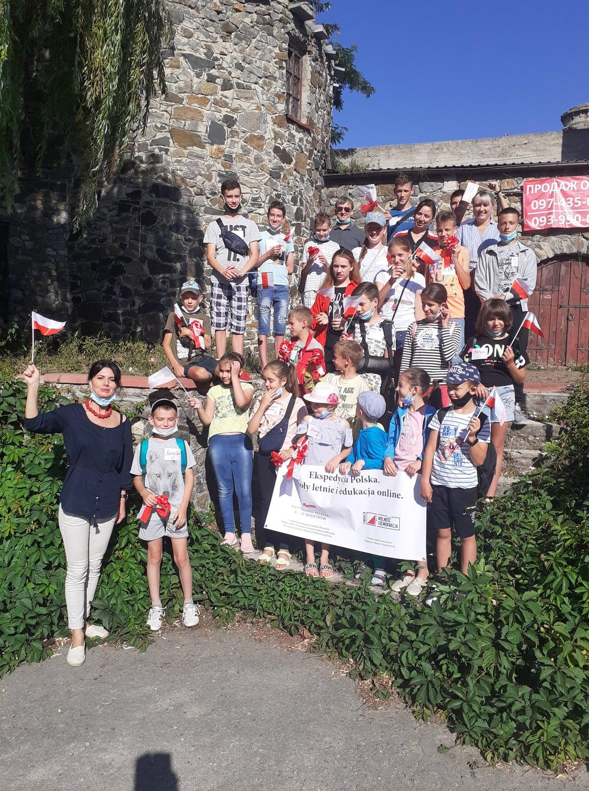 Перший літній табір та урочиста лінійка відбулися для учнів-хмільничан польської школи
