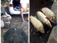 Поблизу села Голодьки Хмільницького району рибалка вчинив правопорушення, використовуючи заборонене знаряддя лову