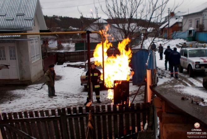 На Хмільниччині через газовий стояк мало не загорілась хата