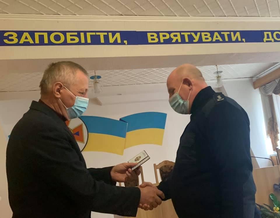 Начальника Хмільницьких рятувальників нагороджено відомчою відзнакою