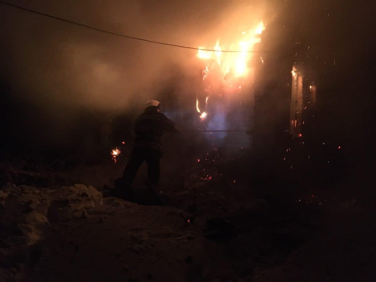 Цієї ночі в селі Березна згоріла господарча будівля