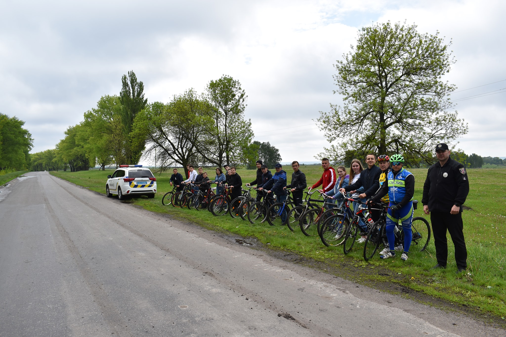 """""""Я на велосипеді – ні обмежень, ні кордонів"""": в Качанівці відбувся велопробіг до Дня Європи"""