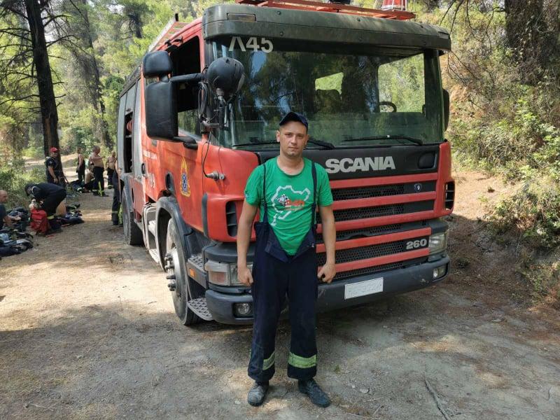 """""""Я за все життя не випив стільки води, як за ті 10 днів у Греції"""": хмільницький вогнеборець гасив масові пожежі за кордоном"""