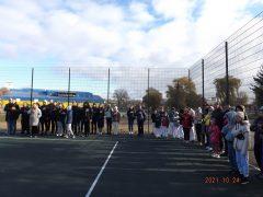 В день урочистого відкриття спортивних об'єктів у Хмільнику відбувся відкритий турнір з волейболу